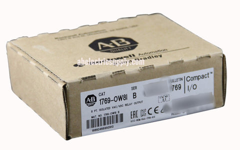 Surplus Never Used Sealed Allen Bradley CompactLogix 1769-OW8I Ser B F/W Rev 3.1