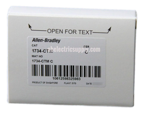 New surplus Sealed Allen Bradley Common Terminal Module 1734-CTM Ser C