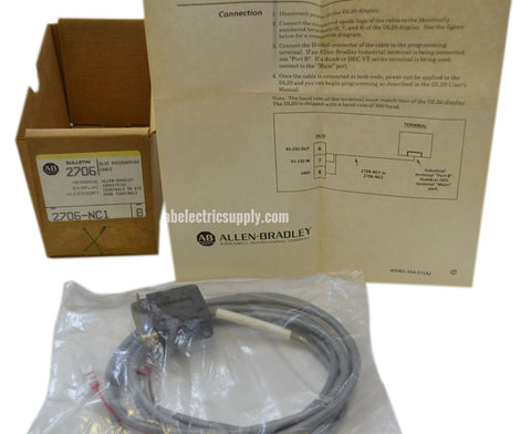 New Allen Bradley 2706-NC1 Ser B DL20 CONNECTOR CABLE MALE 25PIN D-SHELL In Orig