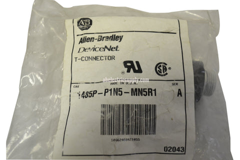 New Allen Bradley 1485P-P1N5-MN5R1 Ser A CONNECTOR T-PORT MINI RIGHT KEYWAY DEVI