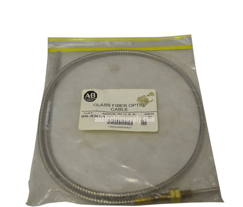New Allen Bradley 99-530-1 Ser C FIBER OPTIC CABLE GLASS 2.29MM DIA