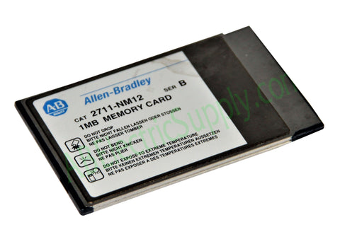 Allen Bradley 2711-NM12 Ser B 1MB Flash Memory Card