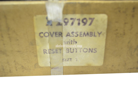 New Surplus Allen Bradley X297197 COVER ASSEMBLY WITH PUSH BUTTON