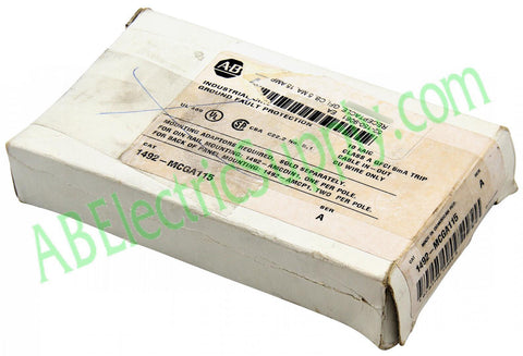 4294388318279 New Surplus Open Allen Bradley Circuit Breaker 1492-MCGA115 Ser A