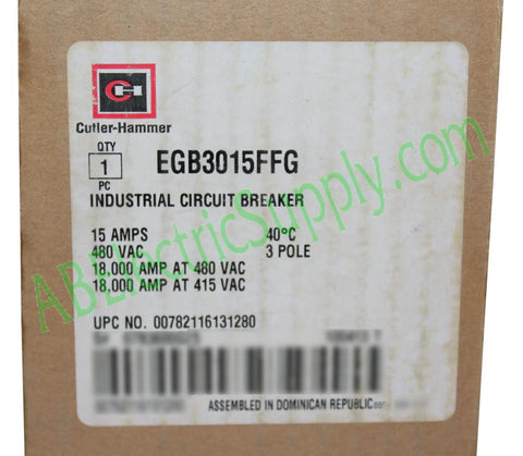 Eaton Cutler-Hammer Series G Molded Case Circuit Breakers - EG Frame EGB3015FFG