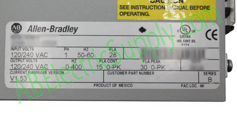 Allen Bradley - Drives Ultra3000-5000 2098-DSD-030X Ser B