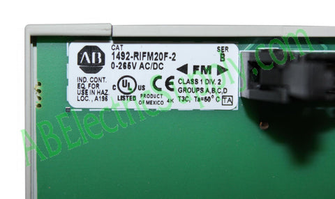 New Surplus Allen Bradley Digital Module 1492-RIFM20F-2 Ser B QTY