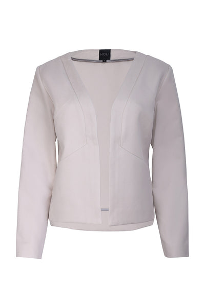 Womens Tailored Blazer Sand Spring Summer - front
