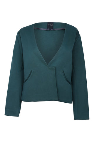 Oversized Blazer - Forest Green