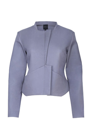 Cropped Jacket - Charcoal Grey