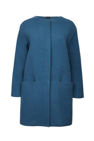 Modern Duffle Coat - Peacock Green