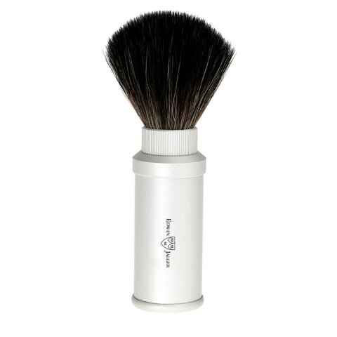 Edwin Jagger – Travel Silver Synthetic Fibre Shaving Brush