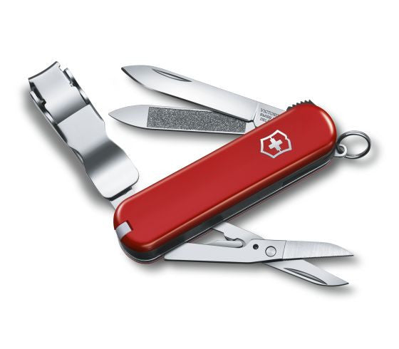 Swiss Army – Small Pocket Knife with Nail Clipper in Red