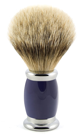 Edwin Jagger – Bulbous Blue Silver Tip Shaving Brush