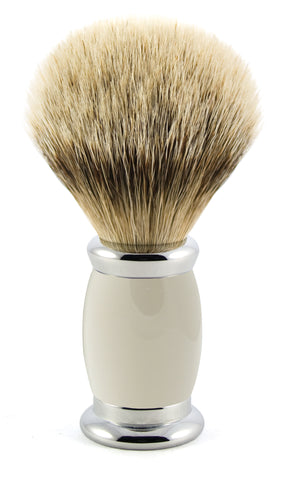 Edwin Jagger – Bulbous Grey Silver Tip Shaving Brush