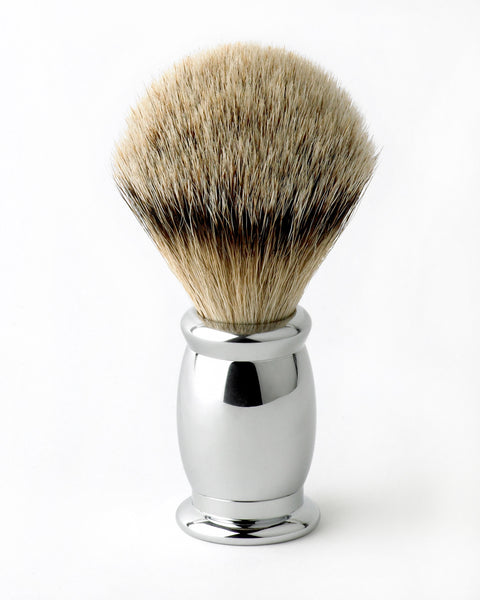 Edwin Jagger – Bulbous Chrome Silver Tip Shaving Brush