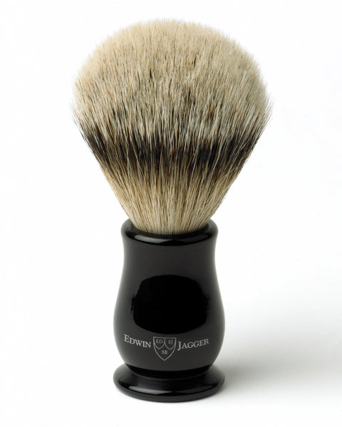 Edwin Jagger – Chatsworth Imitation Ebony Silver Tip Shaving Brush