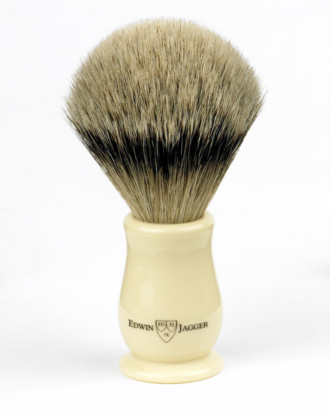 Edwin Jagger – Chatsworth Imitation Ivory Super Badger Shaving Brush