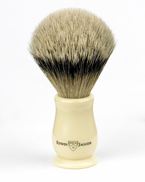 Edwin Jagger – Chatsworth Imitation Ivory Silver Tip Shaving Brush