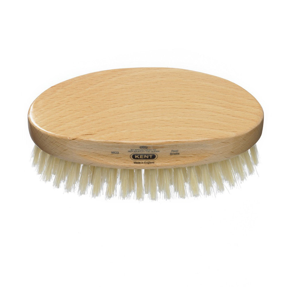Kent – Military Beech Wood White Bristle Brush MG3