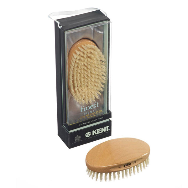 Military Beech Wood White Bristle Brush - MG3