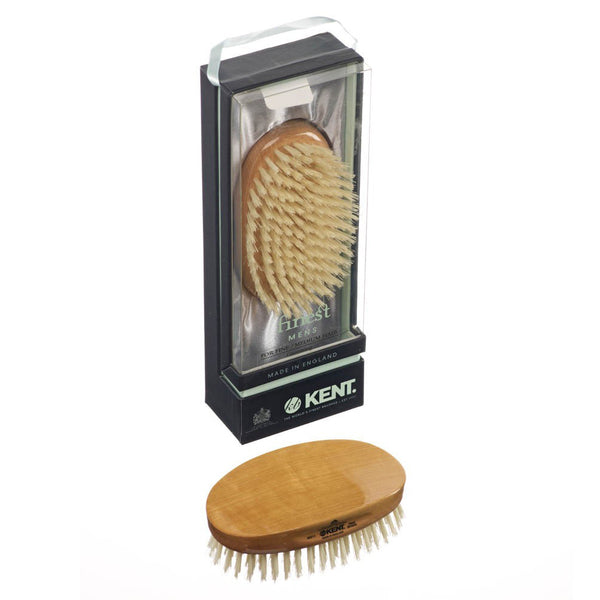 Kent – Dual Timber Military White Bristle Brush MS11