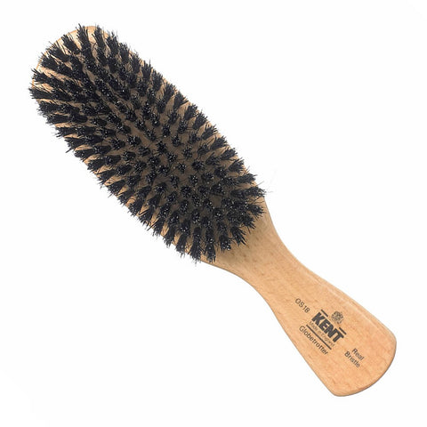 Kent – Handmade Ebony Wood White Bristle Brush OHE1