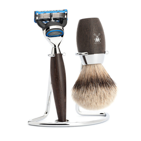 Mühle – Kosmo Shaving Set - Bog Oak