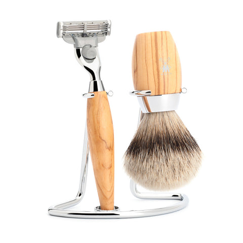 Mühle Kosmo Shaving Set – Olive Wood