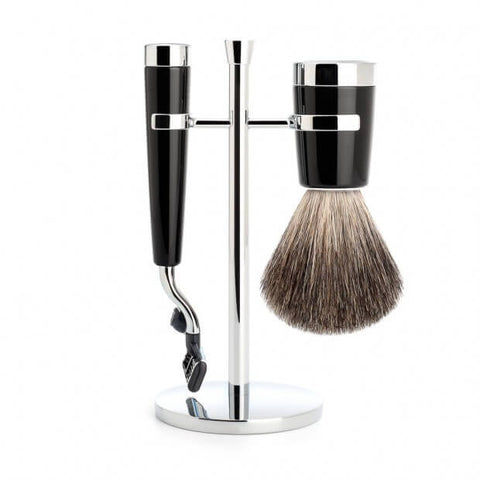 Mühle – Liscio Shaving Set - Black Resin