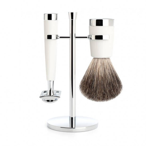 Mühle Liscio Shaving Set – White Resin