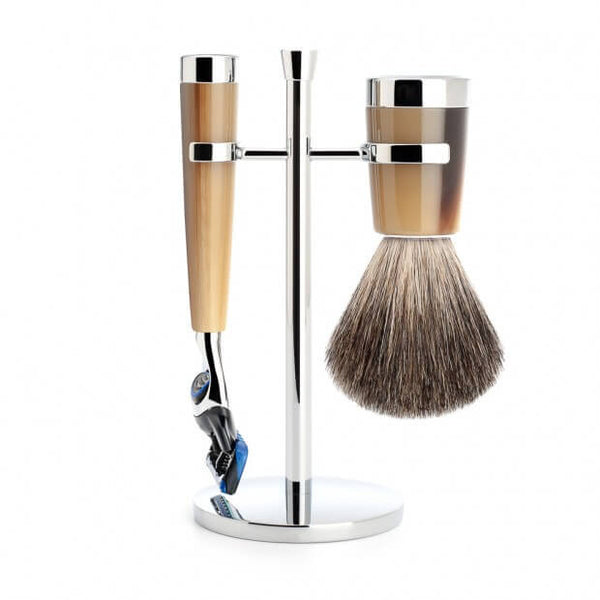 Mühle – Liscio Shaving Set - Horn Brown Resin