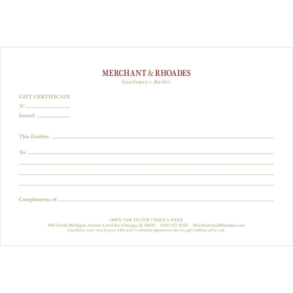 Gift Certificate - Redeemable IN-STORE ONLY