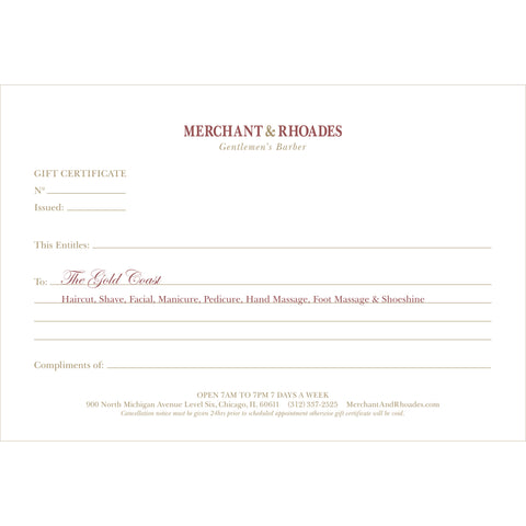 "Merchant & Rhoades Gift Certificate (IN-STORE ONLY) - ""The Oak Street"" Package"