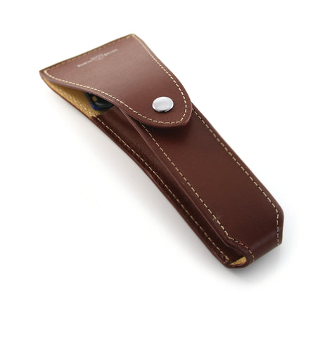 Edwin Jagger – Brown Leather Razor Case