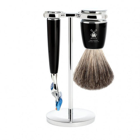 Mühle – Rytmo Shaving Set - Black Resin