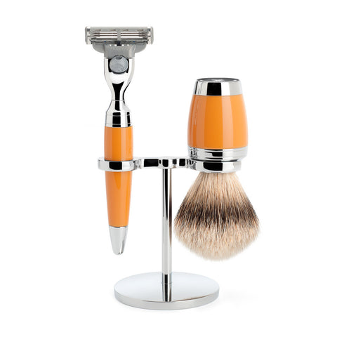 Mühle Stylo Shaving Set – Butterscotch Resin
