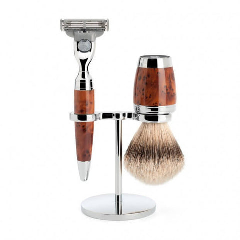 Mühle – Stylo Shaving Set - Thuja Grain Wood