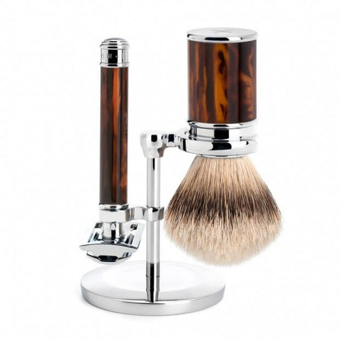 Mühle – Traditional Shaving Set - Tortoise Shell Resin