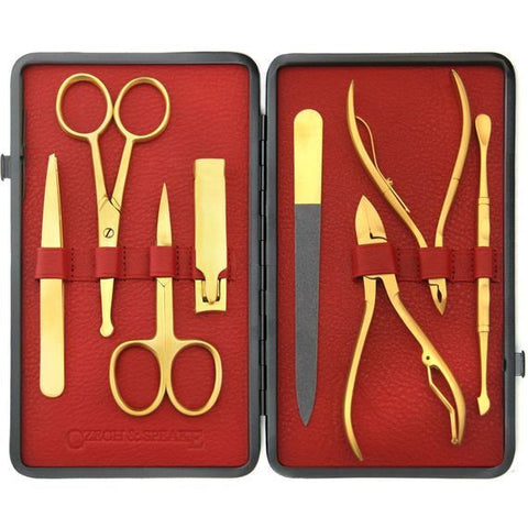 Czech & Speake – Gold Manicure Set - Red & Black