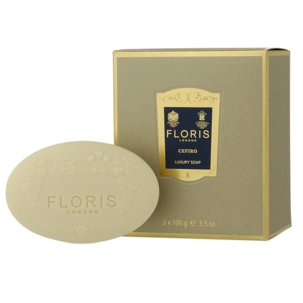 Floris – Cefiro Luxury Soap Box of Three Bars