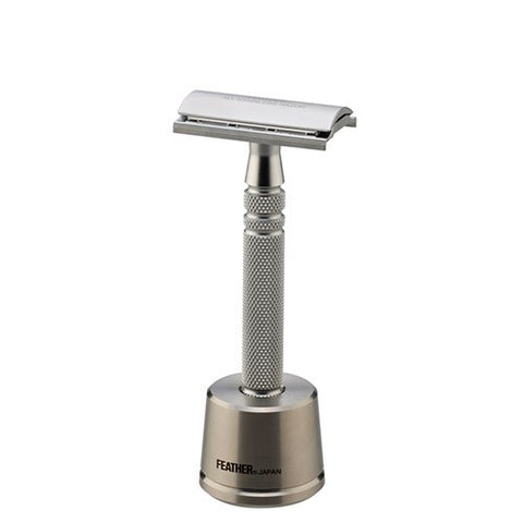 Feather – Stainless Steel Double Edge Razor and Stand