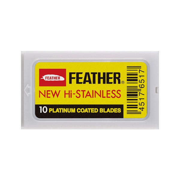 Feather – Hi Stainless Double Edge Blades 10 pack
