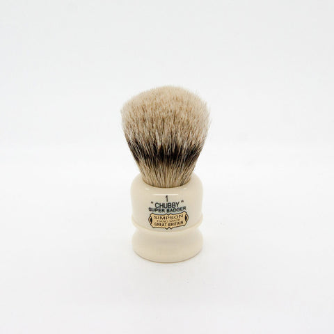 Simpsons – Chubby CH1 Super (Silvertip) Badger Shaving Brush