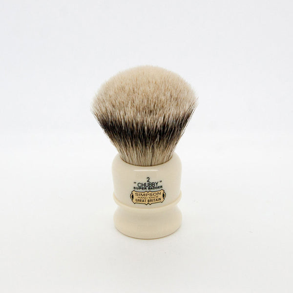Simpsons – Chubby CH2 Super (Silvertip) Badger Shaving Brush