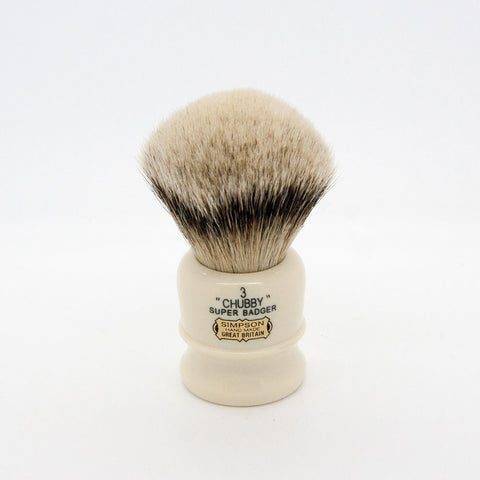Simpsons – Chubby CH3 Super (Silvertip) Badger Shaving Brush