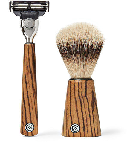 Czech & Speake – Zebrano Wood Shave Set