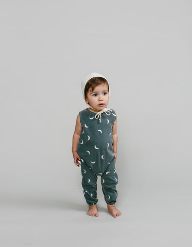 Rylee and Cru Moons Jumpsuit in Washed Indigo