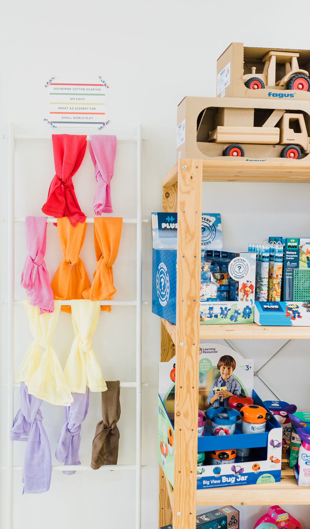THL shop, play scarves