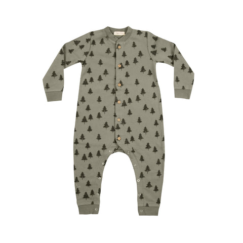 Rylee and Cry Tree Long Sleeve Jumpsuit Moss